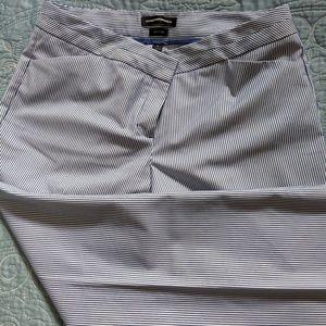Express Editor Pinstripe Pants